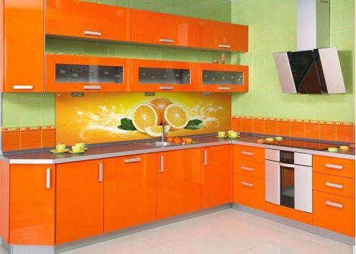 Кухня с фотопечатью Орандж