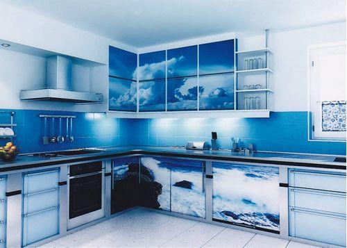Кухня с фотопечатью Пасифик