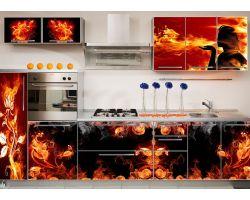Кухня с фотопечатью Силуэт