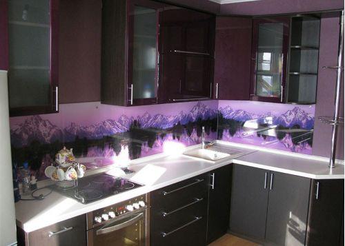 Кухня с фотопечатью Тироль